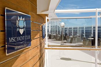 Der MSC Yacht Club ist normalerweise nur dessen Bewohnern zugänglich (Foto: MSC)