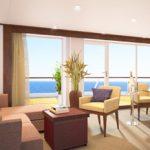 Die neuen Spa-Suiten werden bodentiefe Fenster haben (Grafik: Seabourn)