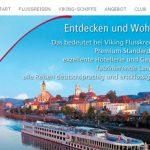 Die Homepage von Viking Flusskreuzfahrten wird nur noch bis Jahresende bestehen