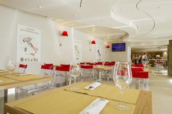 """Auch für das neue Fine-Dining-Angebot """"Eataly"""" auf der MSC PREZIOSA gibt es einen Paketpreis (Foto: MSC)"""