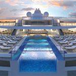 Ein Highlight ist der erste Infinity-Pool auf See, mit einer Glaswand am Heck des Schiffs (Grafik: Viking Ocean Cruises)