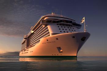 Die ROYAL PRINCESS bietet Raum für 3.600 Passagiere (Foto: Princess Cruises)