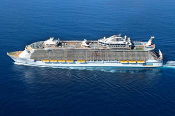 Die OASIS-Baureihe ist die größte Schiffsklasse der Welt (Foto: Royal Caribbean International)