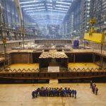 Die ANTHEM OF THE SEAS wurde am Dienstag in der Meyer Werft auf Kiel gelegt (Foto: Royal Caribbean)