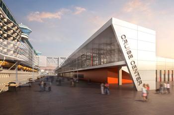 Der dritte Kreuzfahrtterminal Hamburgs entsteht in Steinwerder (Foto: HPA)