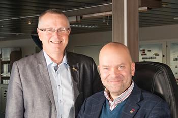 Zum Januar 2015 löst der Schwede Richard Ternblom (rechts) auf Ingvald Fardal als Geschäftsführender Direktor bei der norwegischen Reederei Fjord Line ab (Foto: Fjord Line)